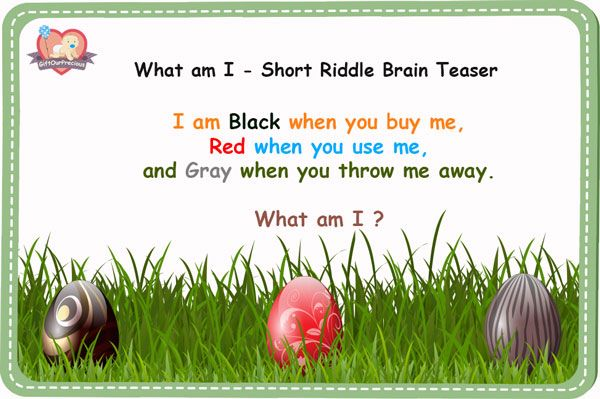 What am I - Short Riddle Brain Teaser  I am Black when you buy me, Red when you use me, and Gray when you throw me away.  What am I ?  http://www.giftourprecious.com/what-am-i-short-riddles-brain-teasers/  #brainteasers #logic #kids