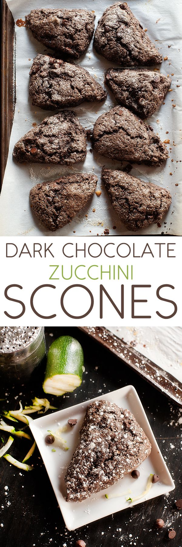 Dark Chocolate Zucchini Scones