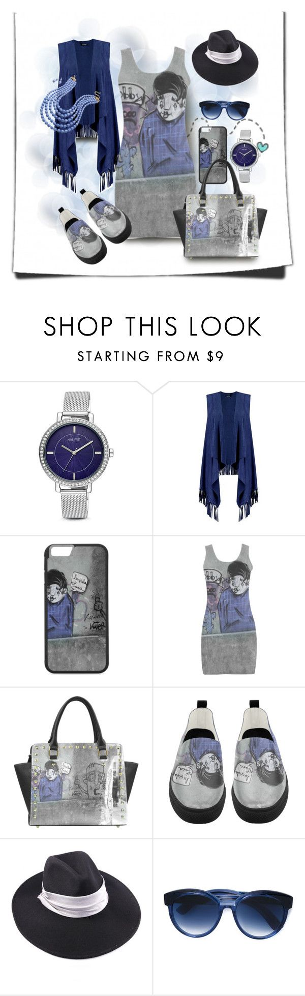 Blue Graffiti by fractallicious on Polyvore featuring Boohoo, Nine West, BillyTheTree, Jacques Marie Mage and Ted Baker