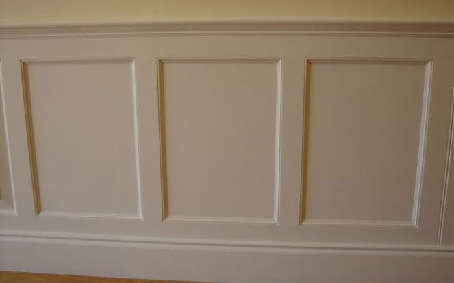 Wood panelling effect
