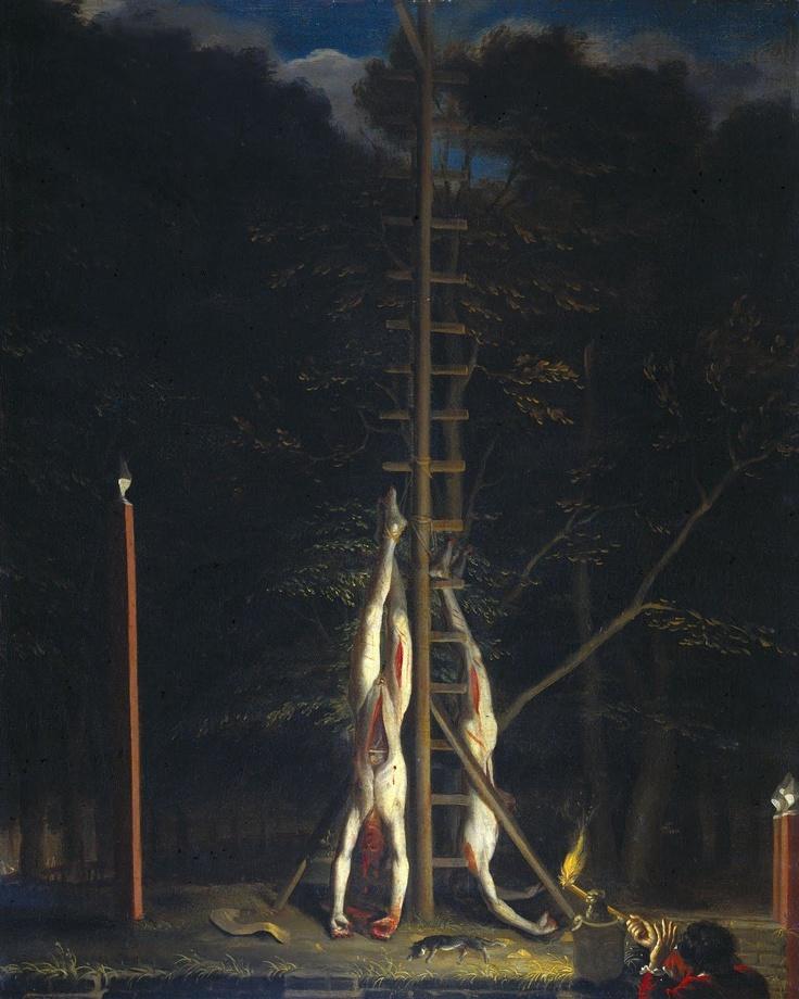 The bodies of the brothers De Witt, by Jan de Baen  http://en.wikipedia.org/wiki/Johan_de_Witt