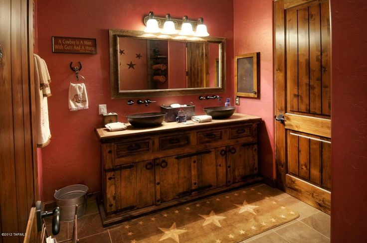 Country bathroom with ranch style.   Ranch style, Decor ...
