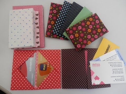 Porta cartões 2 - Origami / Orinuno - YouTube