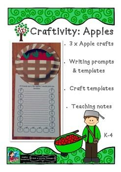 Craftivity: Apples Crafts & prompts If friends were like apples I'd pick you! #craftivity #apples #autumn  Celebrate Autumn & apples with your students using this fun pack!  This is what is included:  If friends were like apples, I would pick you (writing prompts...two different options plus lined and unlined sheets)  In the bottom of the basket of apples, I found an apple that was AMAZING! (writing prompts...two different options - lined and unlined)  Detailed instructions for the craft…