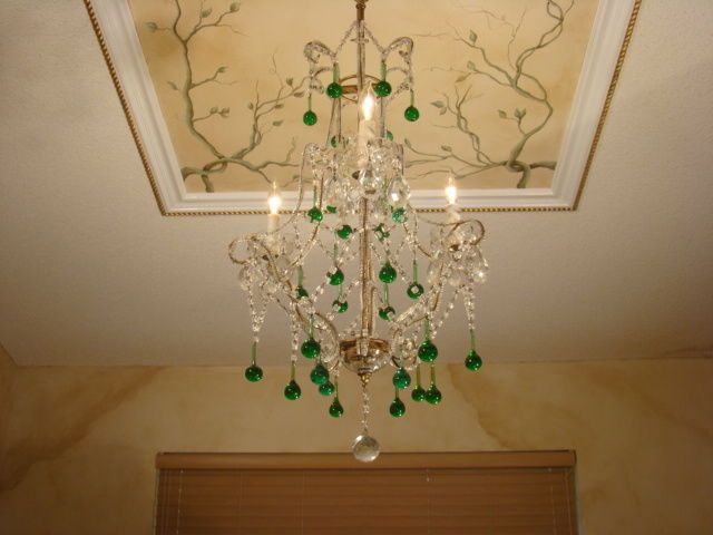 AMAZING OLD MACARONI & MURANO GLASS ITALIAN EMPIRE CHANDELIER in Antiques, Architectural & Garden, Chandeliers, Fixtures, Sconces | eBay