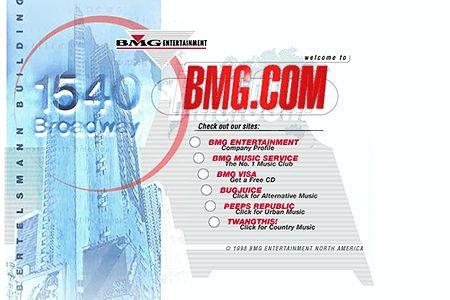 BMG.com website 1998