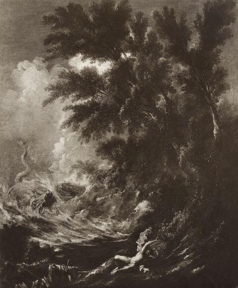 Gasparini , Magnasco Alessandro; Peruzzini Antonio Francesco - sec. XVII/ XVIII - Giona e la balena - insieme