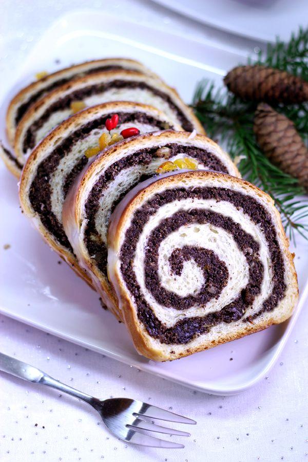 Every Cake You Bake: Świąteczna strucla makowa - drożdżowa i krucho-dro...