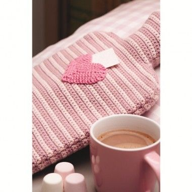Secret Message Hot Water Bottle - Crochet Pattern