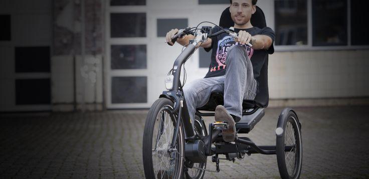 elektrische driewielfiets cratos van huka in gebruik
