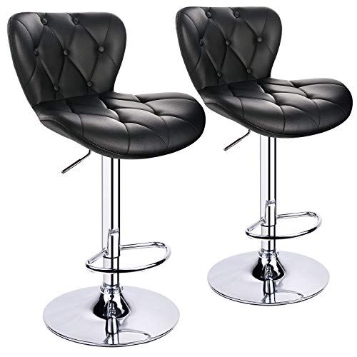 Leopard Shell Back Adjustable Bar Stools Swivel Bar Stool With