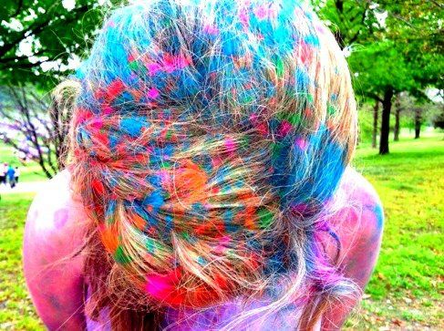 The Color Run hairstyle