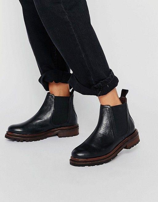 Hudson London | Hudson London Black Leather Wistow Ankle Boot