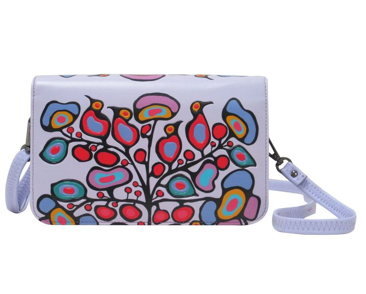 Norval Morrisseau Woodland Floral Crossbody Purse - Available Mar 2017