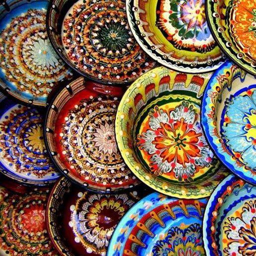 Bulgarian ceramic plates handmade - nice colors  sc 1 st  Pinterest & 108 best Bulgarian ceramics images on Pinterest | Bulgarian ...