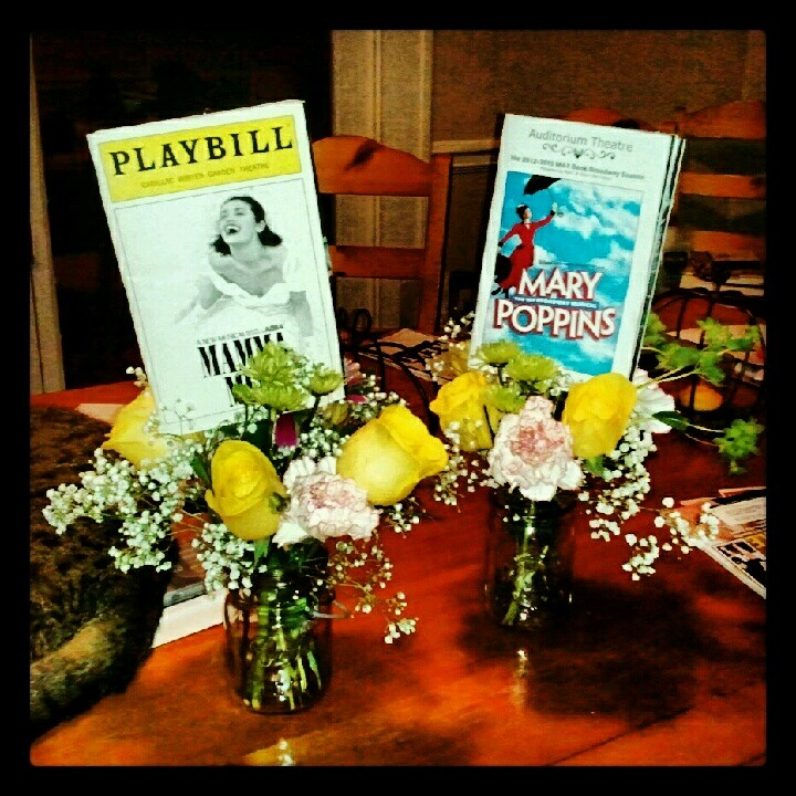Table Numbers Amp Centerpieces For A Broadway Themed Party