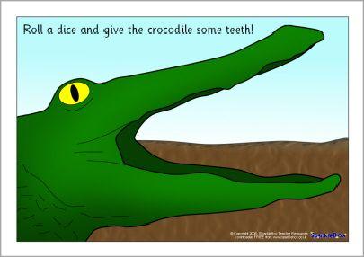 Crocodile teeth playdough mat (SB464) - SparkleBox