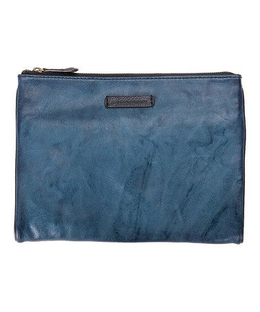 Look what I found on #zulily! Blue Michelle Leather Tech Clutch #zulilyfinds