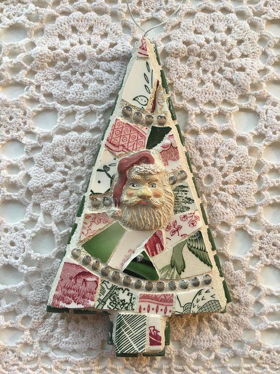 mosaic christmas tree ornament mosaic christmas easter pinterest basteln mit kindern. Black Bedroom Furniture Sets. Home Design Ideas