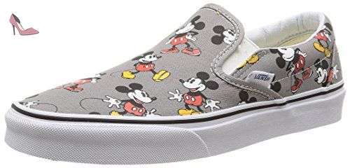 Vans U Classic Slip-On Disney, Sneakers Basses mixte adulte, Multicolore (Disney/Mickey Mouse/Frost Gray), 45 EU - Chaussures vans (*Partner-Link)