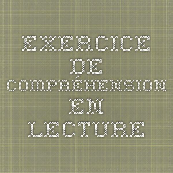 Sec. 5 Exercice de compréhension en lecture csmv