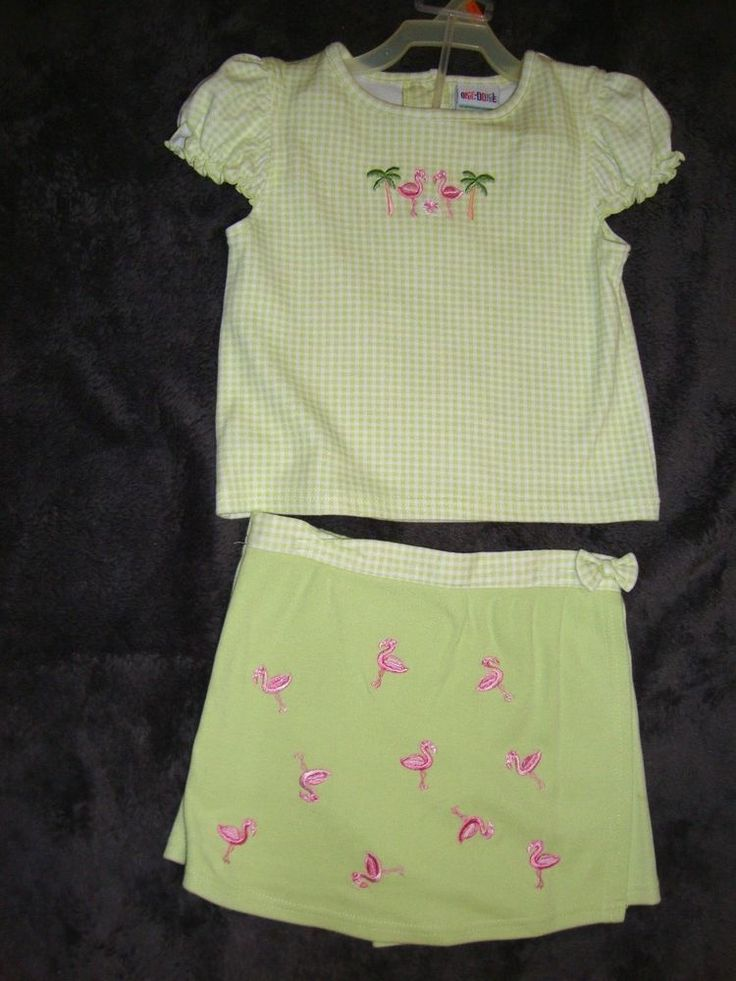 NWOT 5T Girls Okie Dokie 2 Piece Awesome Top and Skort Outfit #OkieDokie #DressyEverydayHolidaySchoolOuting