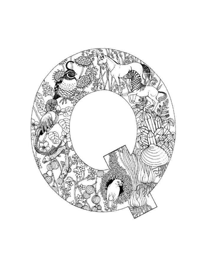 Printable Letter Q Coloring Pages : 100 best alphabet coloring images on pinterest