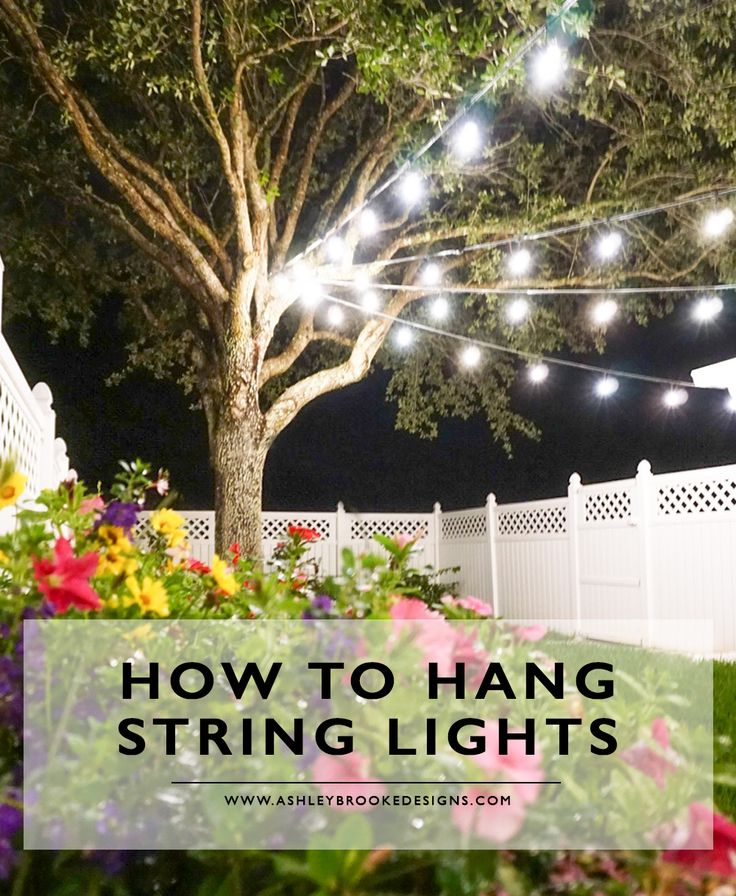 How To Hang String Lights Diy Casa De Abd Backyard