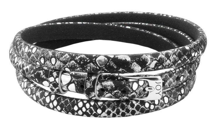 Joy de la Luz | Leather buckle bracelet black/silver