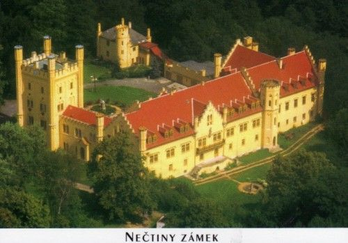 Nečtiny -přestavěný zámek