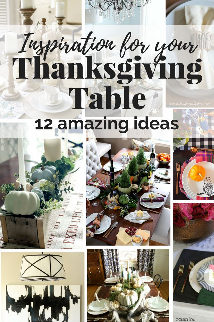 This roundup of Thanksgiving table ideas will give you so many ideas for decorations and centerpieces to use on your table this year!