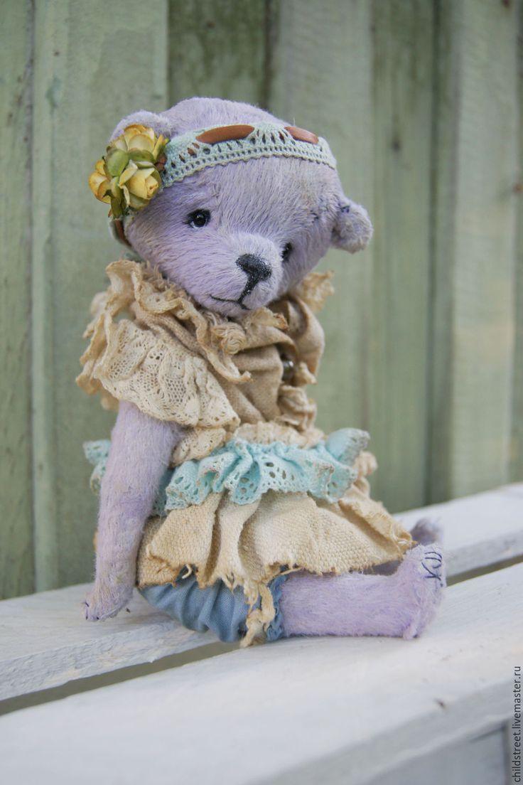 Купить Джулия, мишка Тедди - бледно-сиреневый, нежность, нежный подарок, мишка…