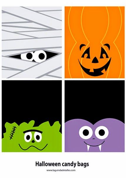 Halloween Template For Candy Bags