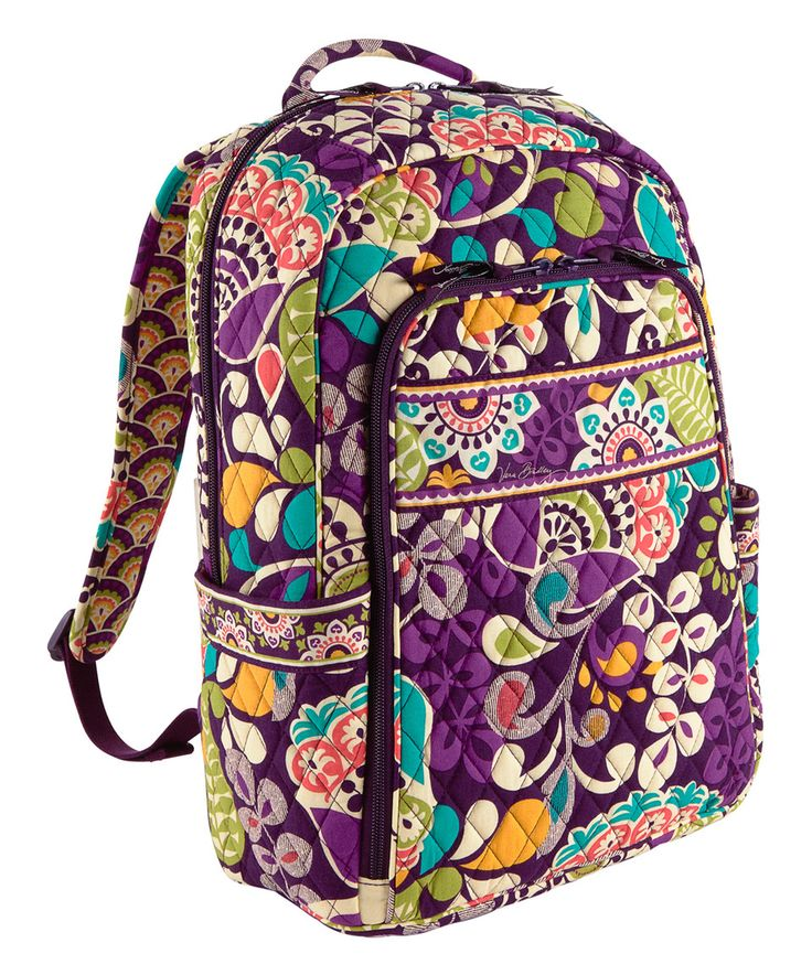 Love this Plum Crazy Laptop Backpack by Vera Bradley on 7b4015e442bd9