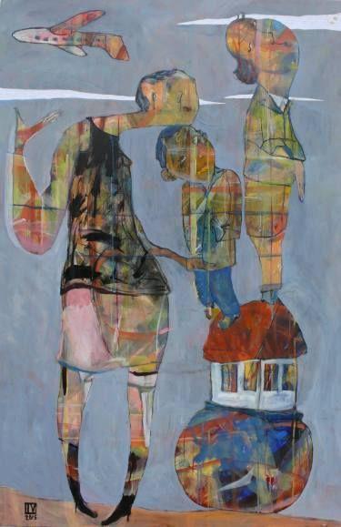"Saatchi Art Artist Ilya Volykhine; Painting, ""The Travellers, 2015"" #art"
