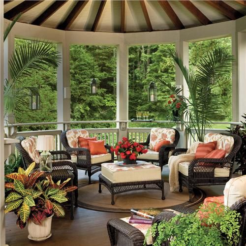Beautiful and relaxing covered outdoor living space.  #outdoorliving homechanneltv.com