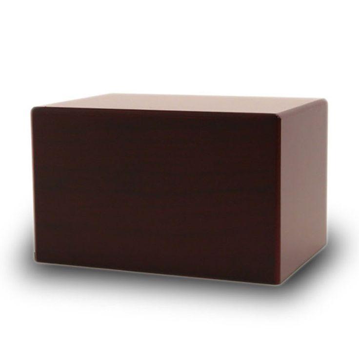 Adoration Pet Cremation Urn Box - Cherry