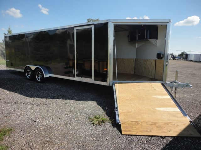 2015 Haul-It 7x28   Aluminum Snowmobile Trailer for sale.