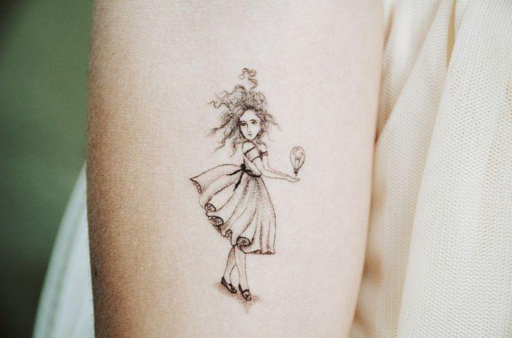 Little Girl With Big Ideas Tattoo via mrkate.com