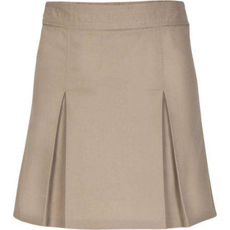 Real School Girls Pleat Front Scooter Skirt School Uniform Approved, Size: 14, Beige