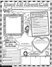The Read All About Me Posters boost self esteem and help kids get acquainted. Highlight student's favorite animals, foods, colors and books; there is even a space to draw a self-portrait! 30 posters per package. Great for first day of school activity