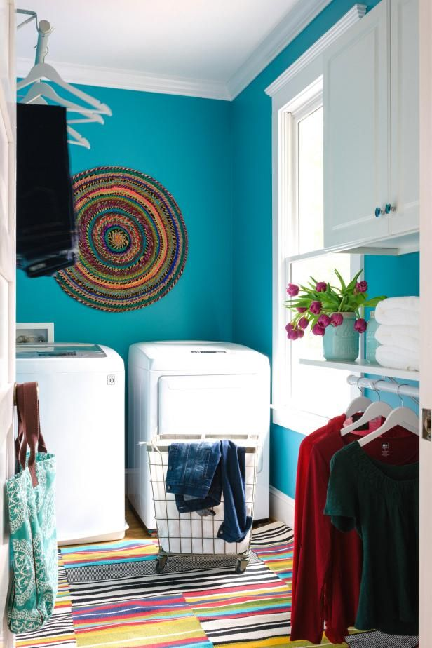 HGTV.com shares easy, budget-friendly laundry room updates you can tackle in less than a day.