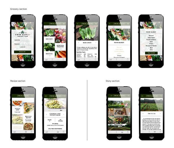 Twin Maples App design by Henry Cunningham