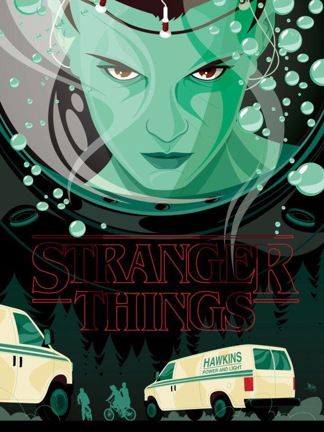 Tributo Stranger Things – 17 Posters criativos da série que farão você querer…