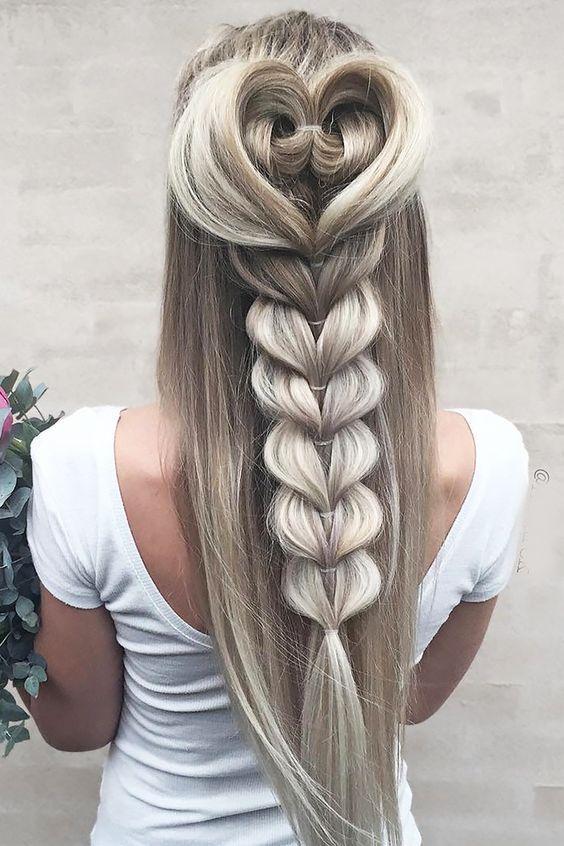 Amazing heart braid style - LadyStyle