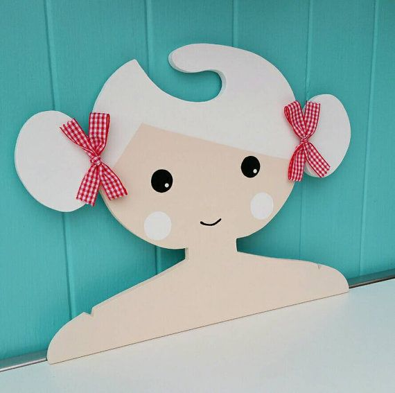 Childrens Clothes Hanger Childrens Coat Hanger Girls by Daisymooo