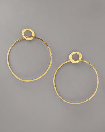 Herve Van Der Straeten Open Circle Earrings