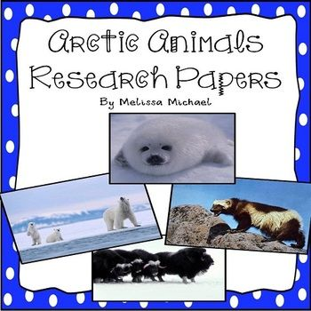 Arctic Animal Research Papers - designed for early readers!  A whole page of information for 24 Arctic animals plus bonus pictures that could be used to create a bulletin board or display!