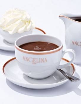 Le Chocolat Chaud  - French hot chocolate...luscious anywhere in France, but especially divine at Angelina in Paris!