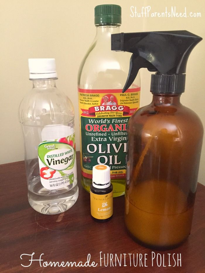Ditch the chemical-filled stuff and try this homemade furniture polish. It  takes seconds